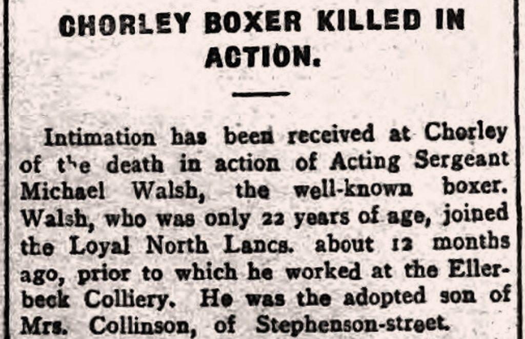 Boxer WW1 slain article