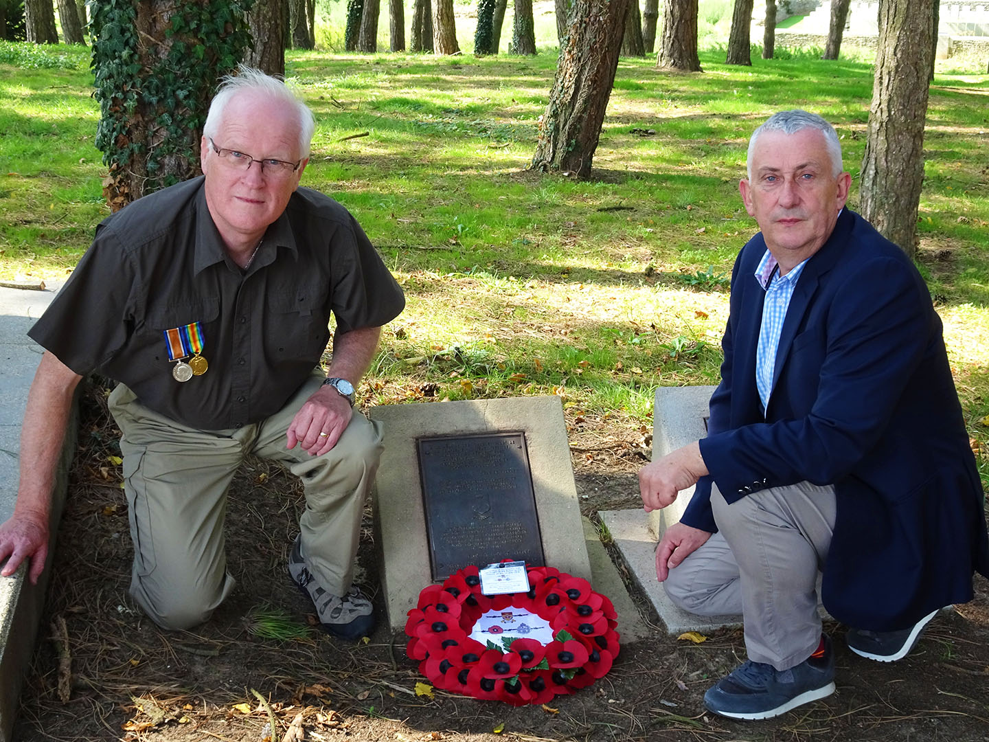 Steve Williams and Sir Lindsay Hoyle on the Somme in September 2018